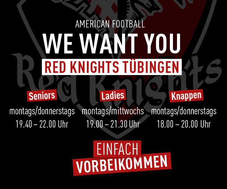 we want you - American Football Tübingen