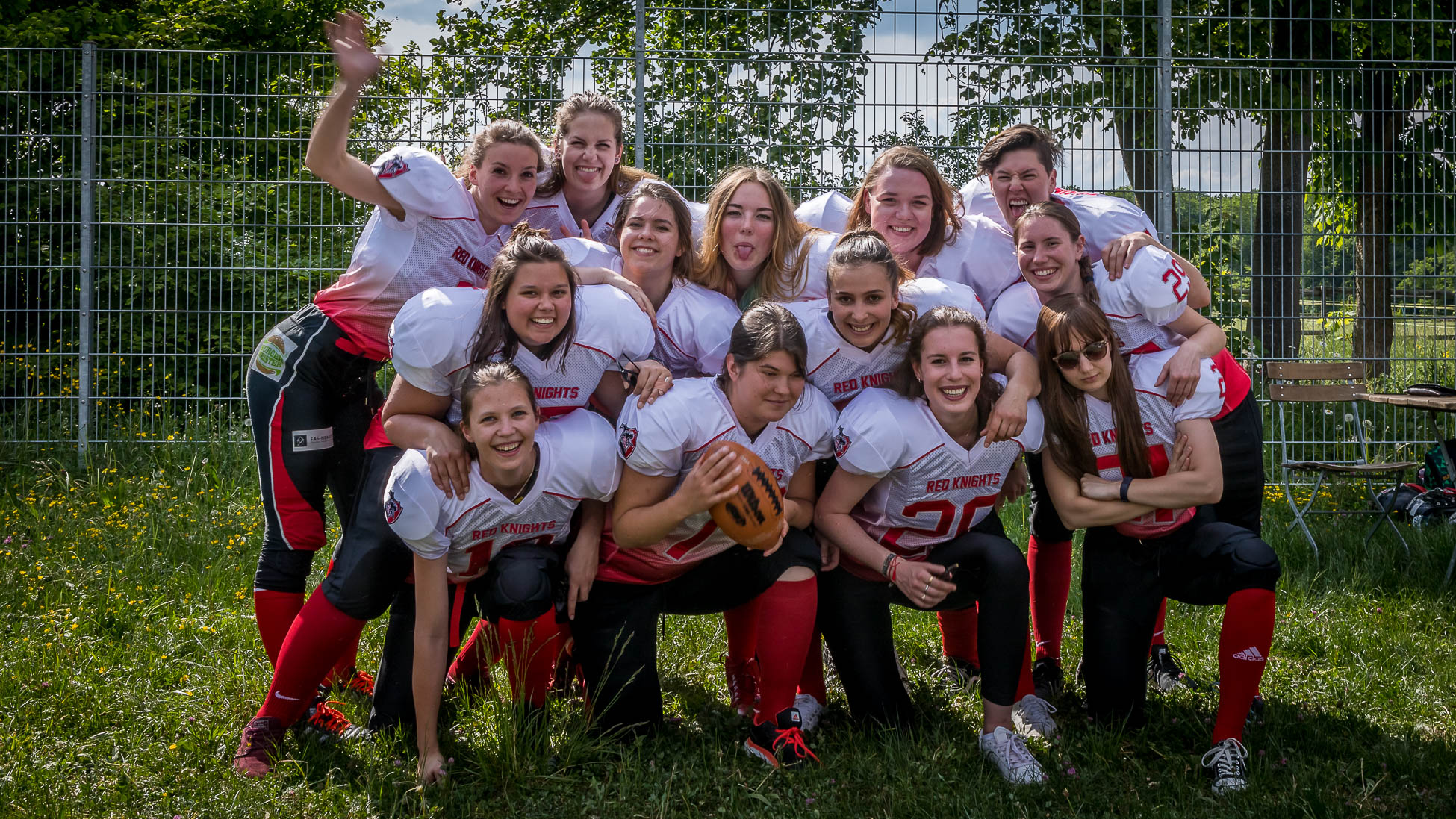 Red Knights Ladies - American Football Team Mannschaft 2018