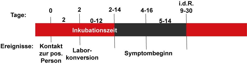 Schaubild Inkubationszeit