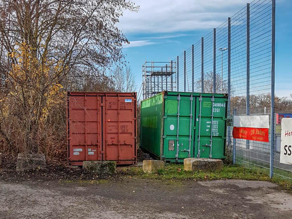 Beitragsbild Container Anschaffung Red Knights Sponsor VR-Bank Tübingen