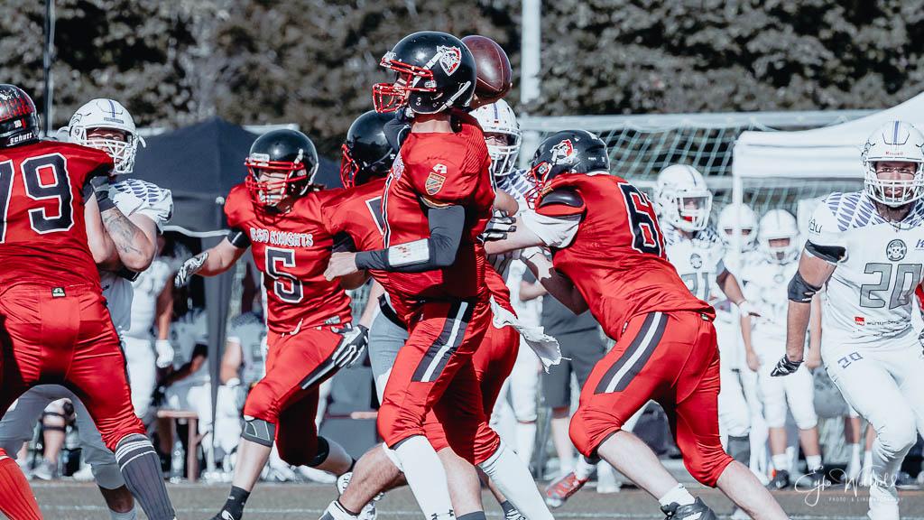 Reutlingen Eagles at Tübingen Red Knights American Football Oberliga Baden Württemberg 2021-09-04